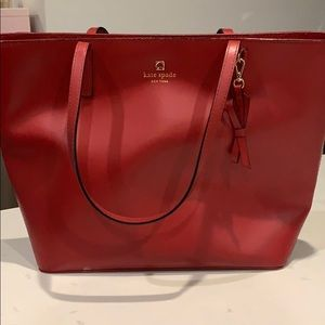 Red Medium Sized Kate Spade Tote